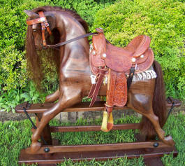 Medium Walnut Full Rocking Horse