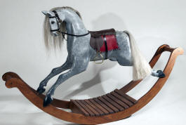 Dapple Grey Rocking Horse