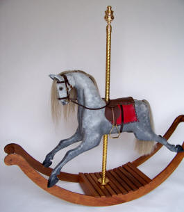 Dapple Grey Carousel Rocking Horse