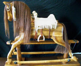 Comanche Moon Rocking Horse
